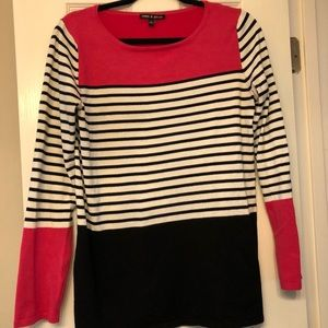 EUC Colorblock Cable and Gauge Tunic